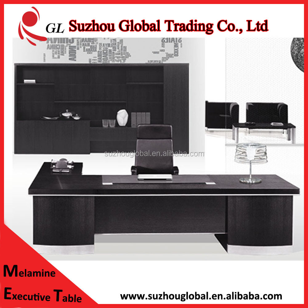 2015 black high grade office desks mobilier de bureau
