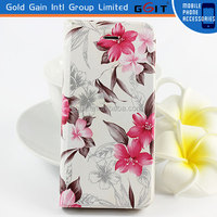 Hot Sale Floral Flip Leather Case Cover For iPhone 5