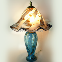 Handmade mouth-blown stained glass lamp