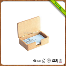 Promotional Business DIY Natural Wholesale Gift Wooden Card Case