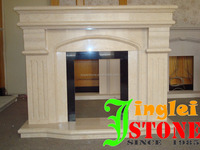 natural white limestone cream beige white marble manmade cream marble fireplace
