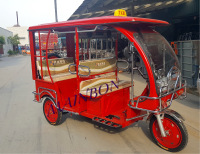 3 wheeler electric tricycle use for taxi Borac fiber roof hot new