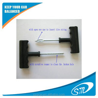 nice tire repair tools set used to solve slow leak in car tire