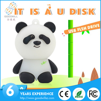 Plastic cheap panda usb flash drive