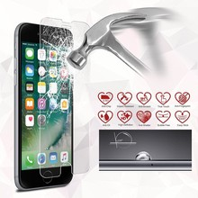 Tempered Glass Screen Protector Case Cover for iphone 7 7Plus with Retail Package