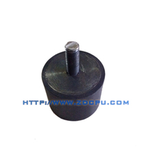 Rubber shock absorber mount with spring
