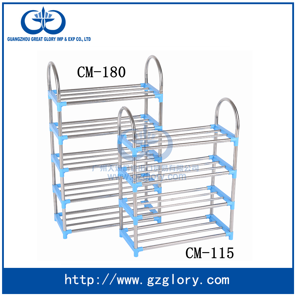 CM-115 Best quality and low price stable corner shoe rack