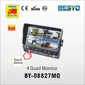 Vehicle reversing 4 quad reversing monitor BY-C08827MQ