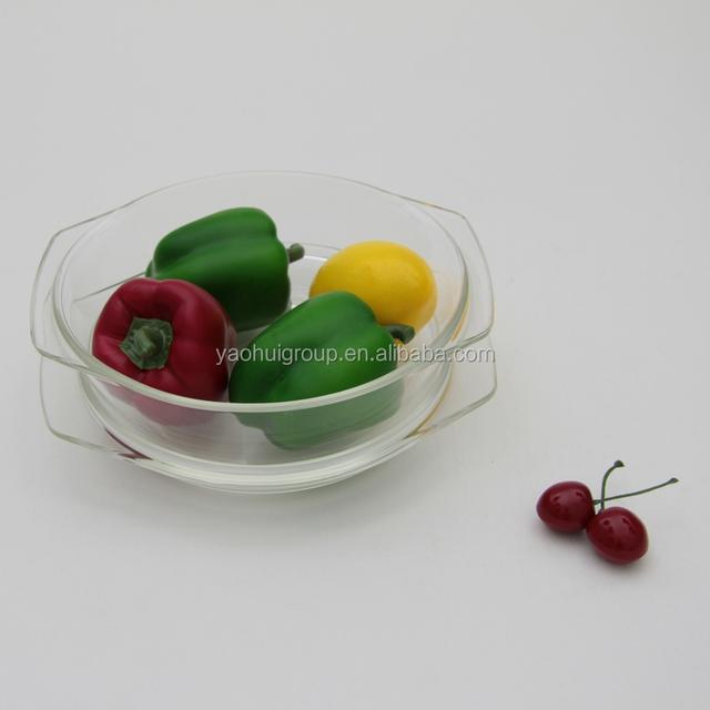 Heat resistant Microwavable pyrex glass casserole set