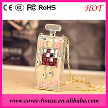 crystal lady diamond perfume bottle Rhinestone Case for iPhone 5 5s