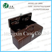 High Quality Leather Wine Glasses Carrying Case