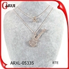 2015 new product guitar rhinestone women fashion jewelry necklace