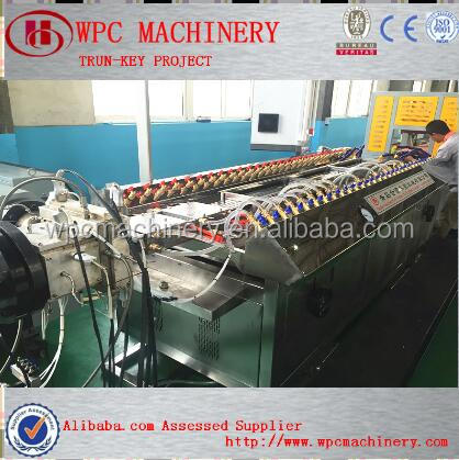WPC WOOD PLASTIC FLOOR EXTRUTION MAKING MACHINE
