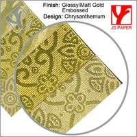 glossy gold and matt gold embossing metallic foil paper