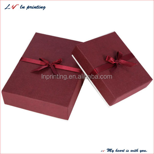 custom plain cheap make paper jewelry box from professional manufacture