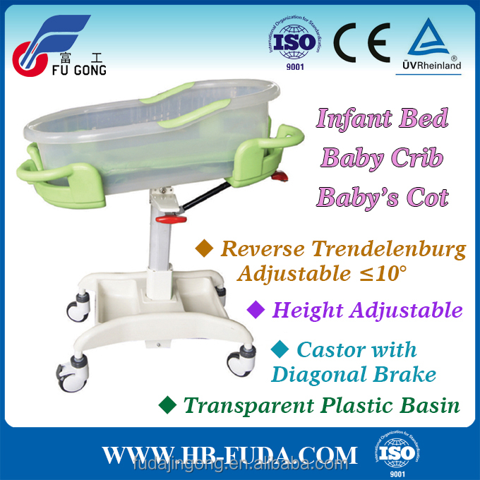 new design height and trendelenburg adjustable baby carrier bed cot