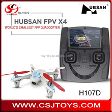 World's Smallest FPV Quadcopter 2.4GHZ 4.3 inch LCD 5.8GHZ Video Transmission Hubsan X4 H107D FPV Mini drone with 480P Camera