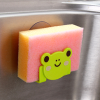 Bear and Frog and Cat and Panda Shaped Plastic Dish Sponge Soap Holder