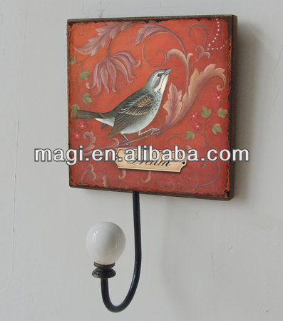 Vintage Decoration Bird Wooden Wall Hook