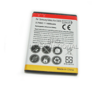 Mobile phone battery for Samsung galaxy ace S5830 without logo