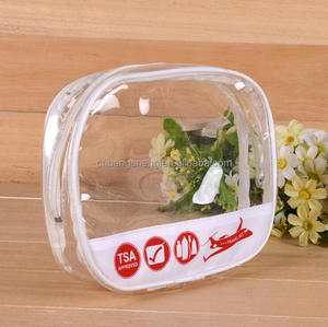 Vinyl Travel Transparent PVC Cosmetic Clear Transparent Toiletry Makeup Bag
