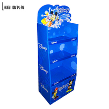 Cardboard Floor Standing Display Rack, Potato Chips Display Shelf