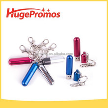 Waterproof Metal Capsule Keychain USB Flash Drive