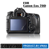 anti-ultraviolet/air bubble proof/weak-glue/washable 99% high transparant screen protector for Canon Eos 70D