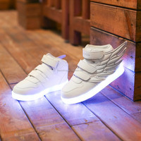 2016 Cool design kids' led sneaker shoes with wings