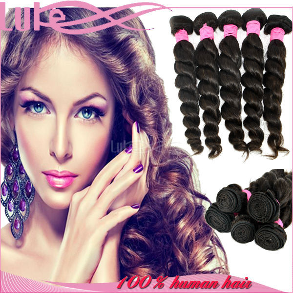 Natural Hair Extension Virgin Cambodian Hair Loose Wave Luke Hair