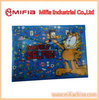 a4 size plastic envelope pocket file folder with custom printing