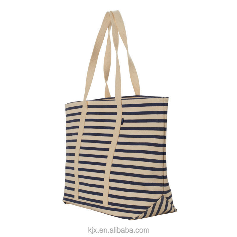 2017 Wholesale Extra Large Custoized Concise Cotton Canvas Shopping Tote Bag