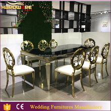 cheap modern 12 10 8 seater glass top wedding banquet table/dining room table for sale