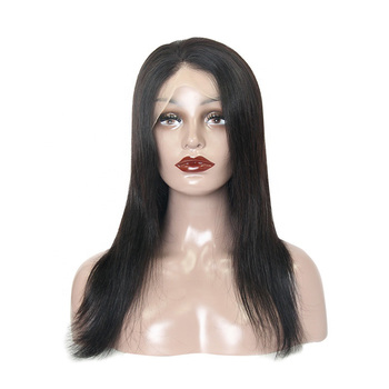 Brazilian remy human hair wig transparent pre plucked cuticle aligned wig human hair