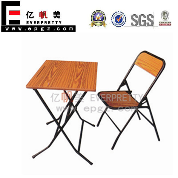 Foldable Study Table with Chair , Folding Table, Old School Furniture for Sale