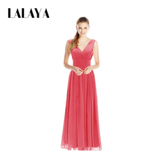 Online Shopping Red Long Chiffon Evening Dress