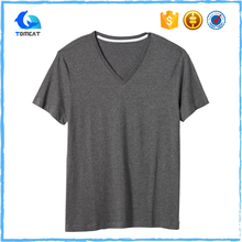 Custom Design Slim Fit Compressed Cotton Woman New Model V-Neck Short Sleeve T-Shirt