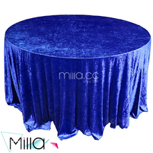 Blue Panen Crush Velvet Wedding Table Cloth