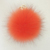 Quick delivery 12cm faux fox fur pom pom ball keychain with alloy strap