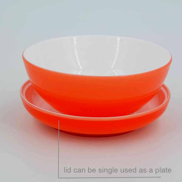 2016 750 ml Double plastic noodle bowl with lid