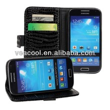 Croco Wallet Book Leather Case Cover Pouch for Samsung Galaxy s4 mini i9190