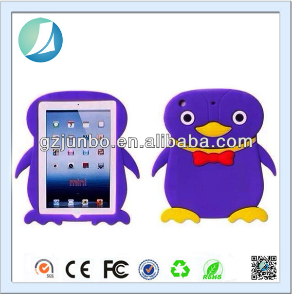 Cute Penguin Pattern 3D Animal Case for iPad Mini