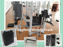deluxe heavy duty cable gym weight stacks, top quality