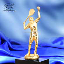 Pujiang metal tennis trophies custom for sports awards