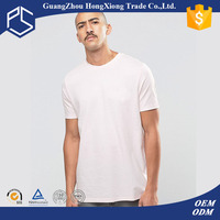 Hongxiong Latest Style Fashionable 180 Grams Short Sleeve Cotton Round Neck Printed Logo Back Side White Men Muscle Fit T Shirt