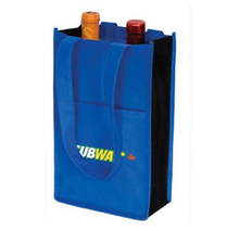 wholesale customized printing divided wine tote bag