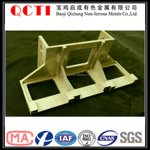 titanium alloied 2016 Baoji QCTI cnc machining parts machine assembly