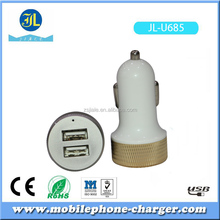 Good USB charging kit dual USB car charger 5V 2.1A 3.1A with 3 feet Micro USB cable in retail box
