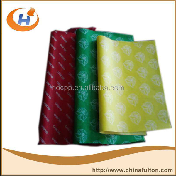 Fast food paper packaging hamburger paper food wrap manufacturer
