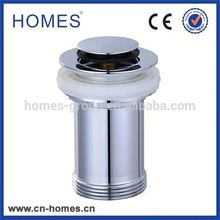 Serviceable Brass Copper Waste Pop-up Chrome Plated Basin Drain Brass Pipe